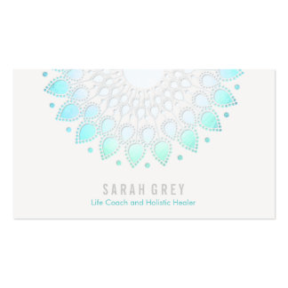 Blue Floral Wellness & Holistic Health Appointment Double-Sided Standard Business Cards (Pack Of 100)