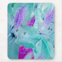 Blue Floral Will You Be My Bridesmaid Mouse Pad