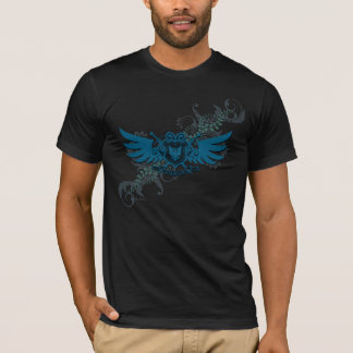 Blue Floral Winged Shield Shirt 1