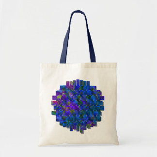 Blue Floral with Mesh Canvas Bag