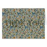 Blue Florentine Thank You Greeting Card