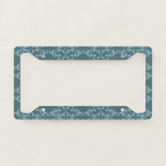 Blue Florish License Plate Frame