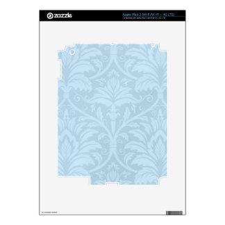 Blue Flourish iPad 3 Skin