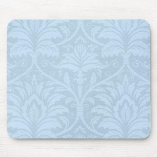 Blue Flourish Mouse Pad