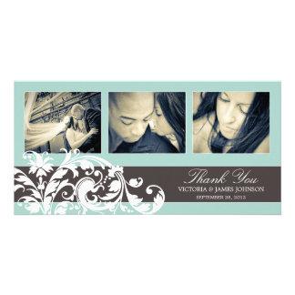 BLUE FLOURISH | WEDDING THANK YOU CARD