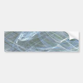 Blue Flow by Halima Ahkdar Bumper Sticker