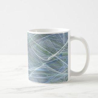 Blue Flow by Halima Ahkdar Coffee Mug