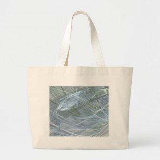Blue Flow by Halima Ahkdar Large Tote Bag