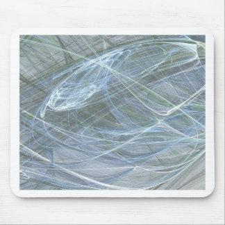Blue Flow by Halima Ahkdar Mouse Mat