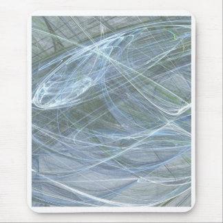 Blue Flow by Halima Ahkdar Mouse Pad