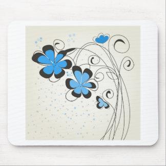 Blue flower2 mouse pad