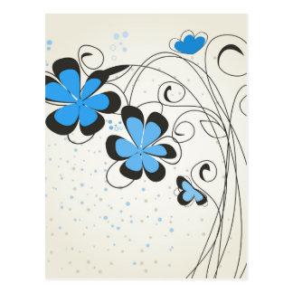 Blue flower2 postcard