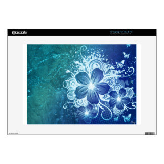 "Blue Flower 15"" Laptop Decal"
