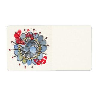 Blue Flower 1 Label