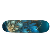 Blue flower 3d - fractal impression. skateboard