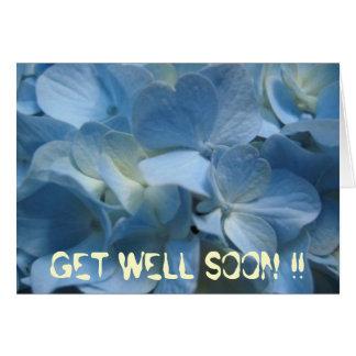 blue-flower-420[1], GET WELL SOON !! Greeting Card