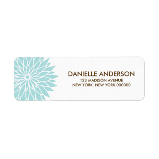 Blue Flower Address Return Labels