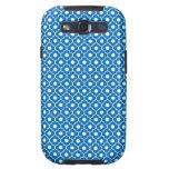 Blue Flower Argyle Pattern 2 Galaxy S 3Case Galaxy SIII Case