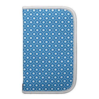 Blue Flower Argyle Pattern Pick Size Folio Planners