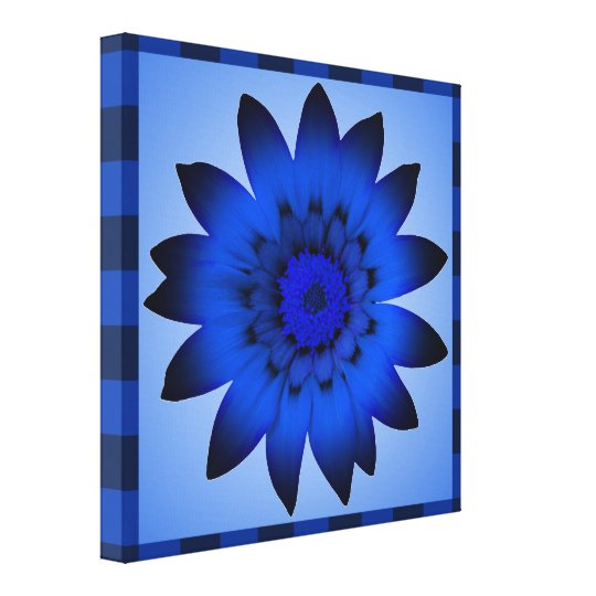 Blue Flower artwork - Wrapped canvas