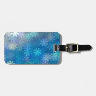 Blue flower background pattern art blurred bag tag