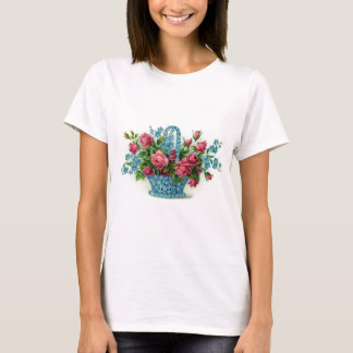Blue Flower Basket T-Shirt