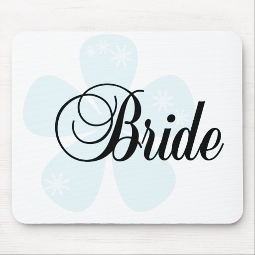 Blue Flower Bride Tshirts and Gifts Mousepads