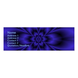 Blue Flower Double-Sided Mini Business Cards (Pack Of 20)