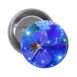blue flower buttons