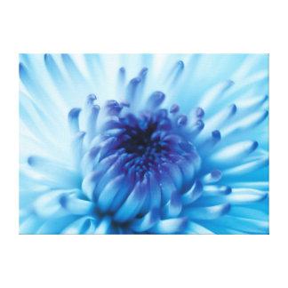 Blue flower canvas prints