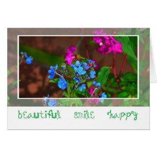 Blue flower-Card card