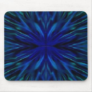 Blue Flower Center Mouse Pad