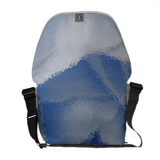 Blue Flower Close up Messenger Bags