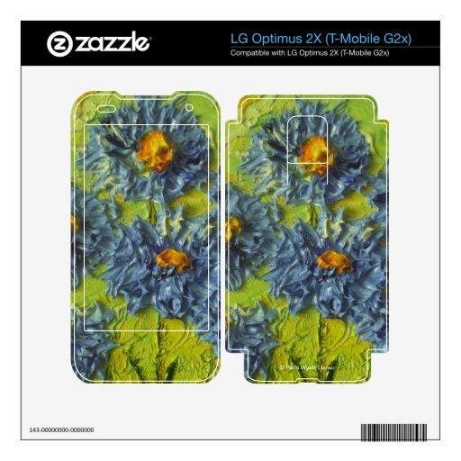 Blue Flower Cluster LG Optimus 2X Skins