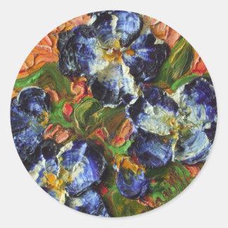 Blue Flower Cluster Sticker