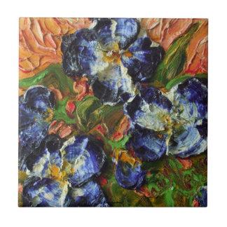 Blue Flower Cluster Tile