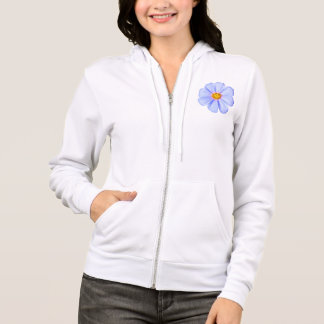 Blue Flower - Customized Cosmos Daisies Template Hoodie