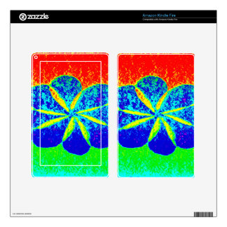 blue flower decals for kindle fire