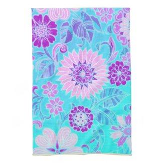 Blue Flower Deco Kitchen Towels