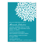 Blue Flower Design Bridal Shower Invitations