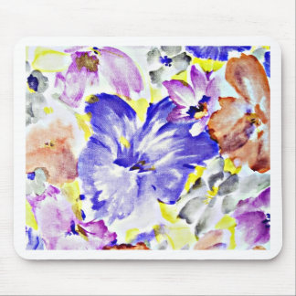 Blue flower digital design Flowers Nature Petals F Mouse Pad