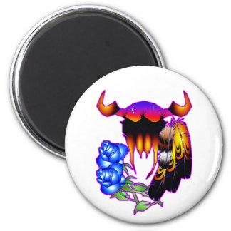 Blue Flower Dreams Refrigerator Magnet
