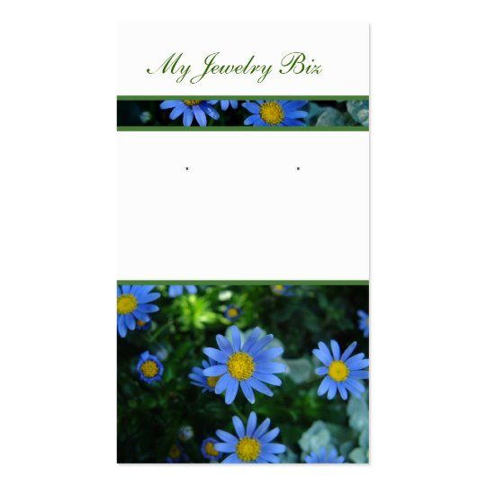 Blue Flower Earring Cards
