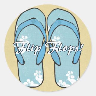 Blue Flower Flipflops Sticker