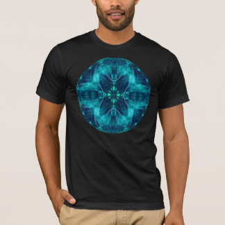 Blue Flower Fractal Design T-Shirt