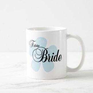 Blue Flower Future Bride Classic White Coffee Mug