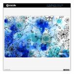 Blue flower garden mac book skin MacBook air decals