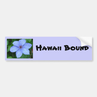 Blue flower, Hawaii Bound Bumper Sticker