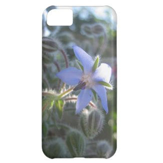 Blue Flower Haze Cover For iPhone 5C