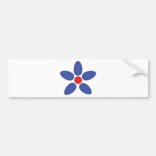 blue flower icon bumper sticker